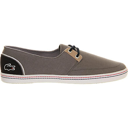 LACOSTE Barbos canvas plimsoles (Grey