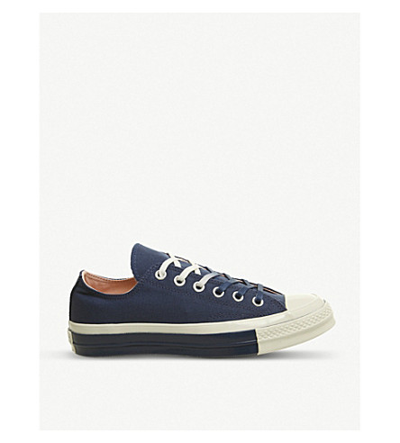 e453ef80a33237 CONVERSE All Star Ox 70 low-top canvas trainers (Mason+blue+egret