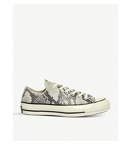 CONVERSE All Star 70s low-top trainers (Tan+snake