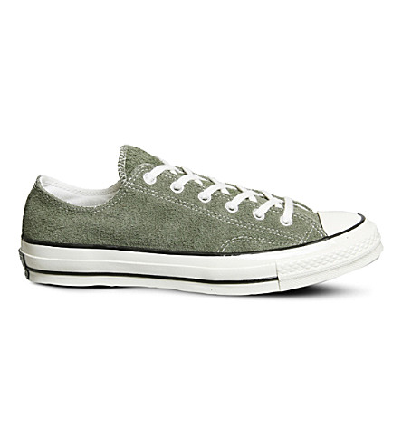 CONVERSE All Star Ox 70's suede low-top trainers (Medium+olive