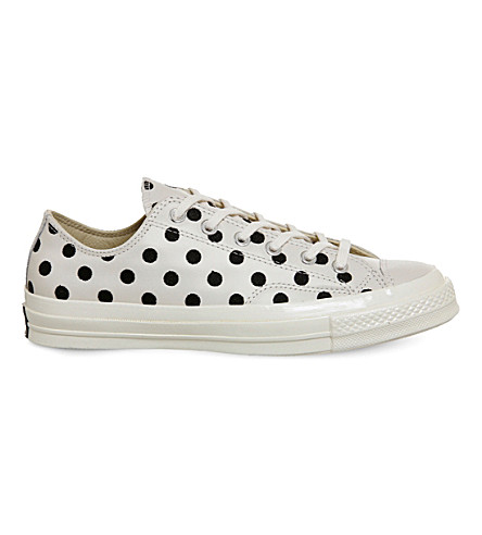 CONVERSE All star ox 70s leather low-tops (Parchment+polka+dot