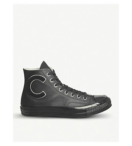 CONVERSE All Star 70s high-top leather trainers (Black+white+black