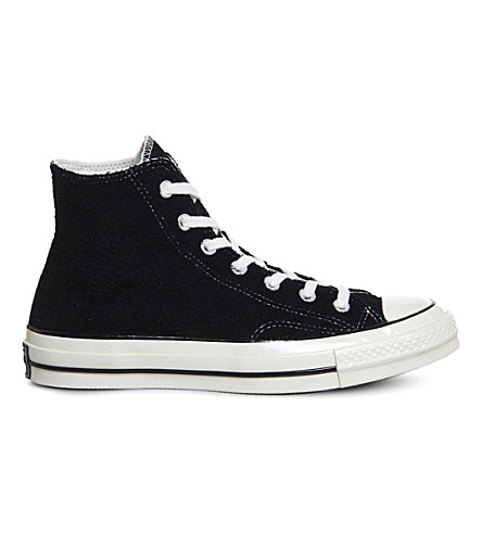 CONVERSE All Star 70 high-top canvas trainers (Black+egret