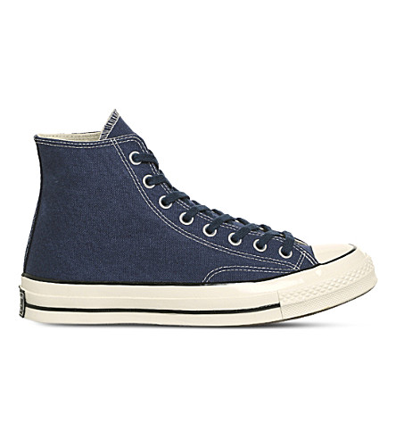 CONVERSE All Star '70 canvas high-top trainers (Midnight+navy