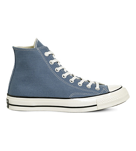 CONVERSE All Star 70 high-top canvas trainers (Blue+coast+egret