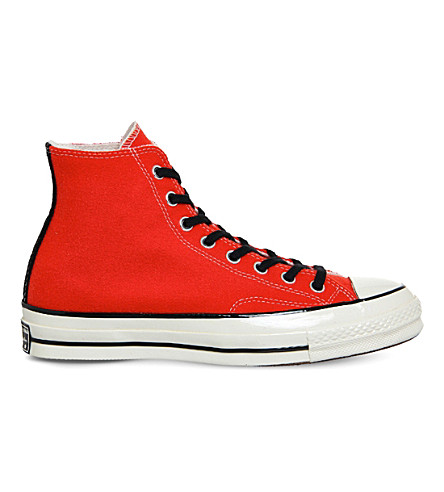 CONVERSE All Star high-top canvas trainers (Poppy+red+black+wool