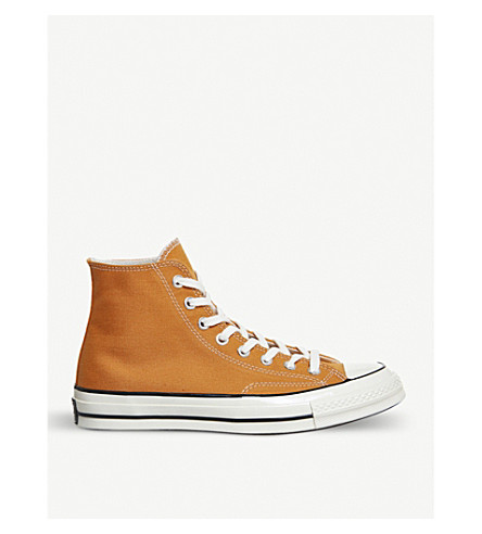 CONVERSE All Star 70 high-top canvas trainers (Tangelo+black+egret