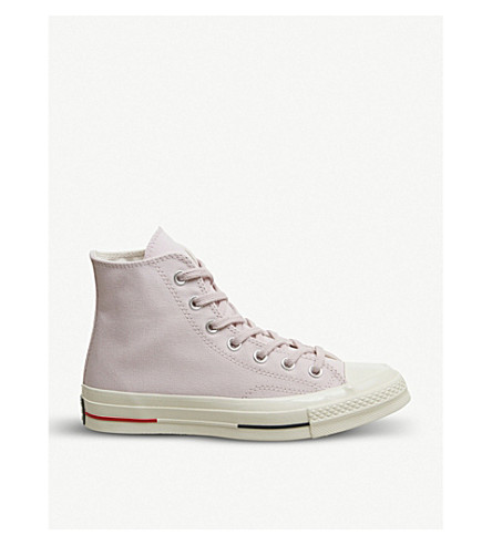 CONVERSE All Star 70's suede high-top trainers (Barely+rose+gym+red