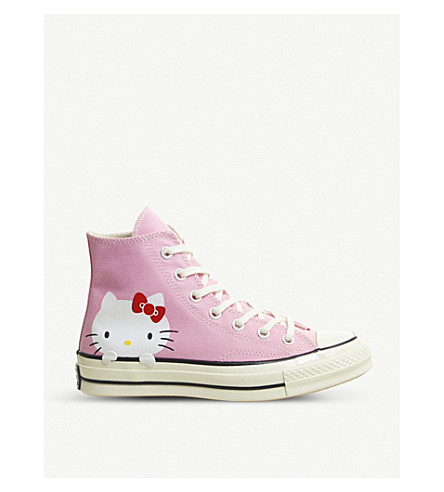 d4c8f295b465 CONVERSE Hello Kitty All star Hi 70 s canvas trainers (Pink+hello+kitty