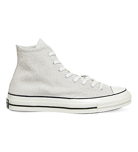 CONVERSE Chuck Taylor All Star 70s Hi suede trainers (Parchment+suede