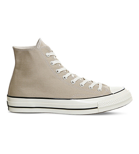CONVERSE All Star 70 high-top canvas trainers (Taupe+sand