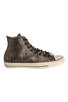 CONVERSE John Varvatos embossed-leather high tops
