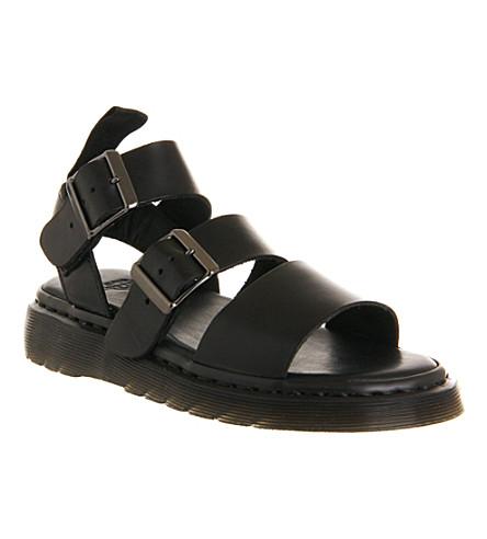 DR. MARTENS Shore Gryphon strap sandals (Black leather
