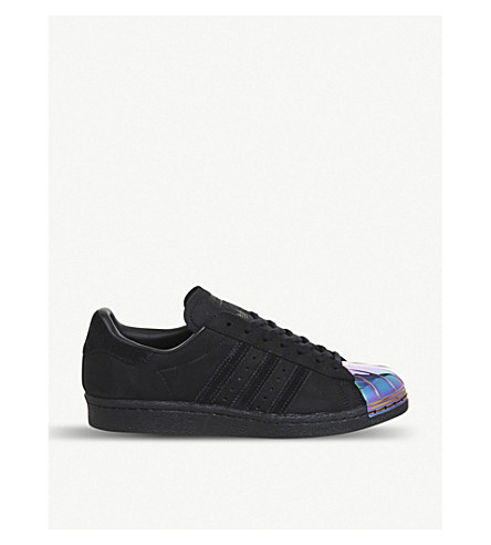 ADIDAS Superstar 80s metal-toe leather trainers (Black petrol