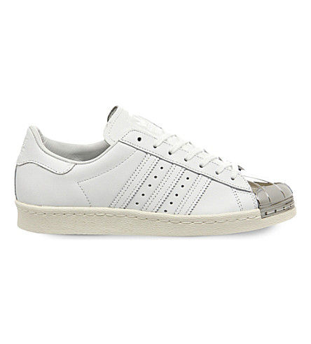 ADIDAS Superstar 80's leather trainers (White silver metal