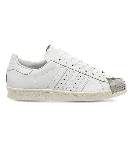 ADIDAS Superstar 80's leather trainers (White+silver