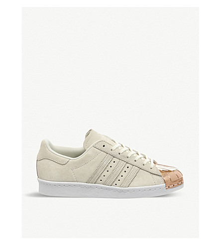 ADIDAS Superstar 80's leather trainers (Off white rose gold