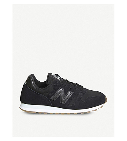 NEW BALANCE W373 suede trainers (Black