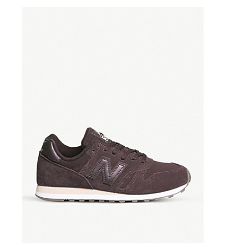 NEW BALANCE W373 suede trainers (Burgundy