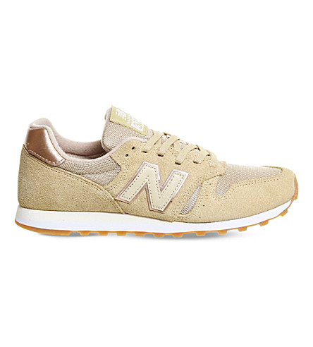 NEW BALANCE W373 suede and mesh trainers (Dust metallic rose