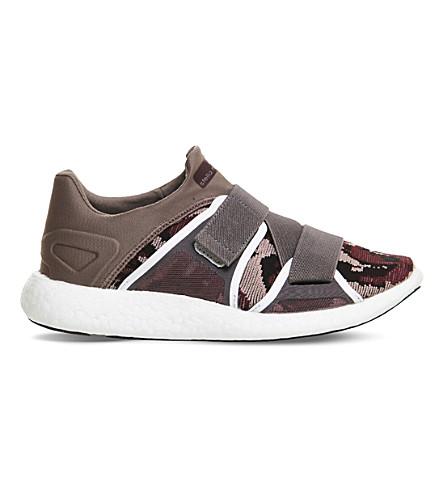 ADIDAS STELLA stella mccartney pure boost knitted trainers (Grey maroon pink