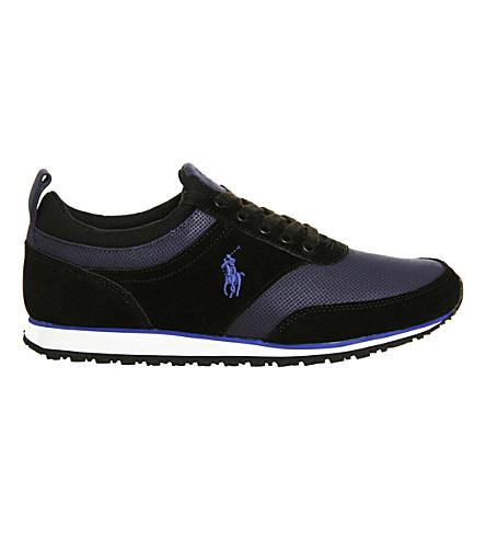 POLO RALPH LAUREN Ponteland suede sneakers (Black+newport+navy