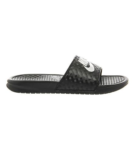 NIKE Benassi flip-flops (Black+white