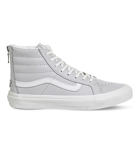 VANS Sk8 Hi zipper leather sneakers (Wind+chime