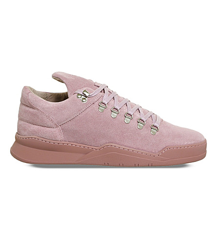 FILLING PIECES Mountain Cut suede trainers (Tonal+pink
