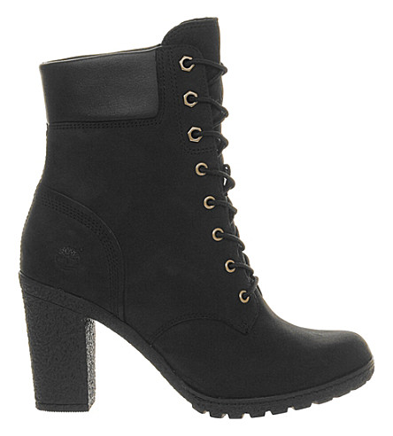 TIMBERLAND Glancy leather ankle boots (Black