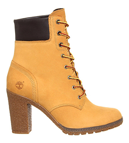 TIMBERLAND Glancy leather ankle boots (New+wheat+nubuck