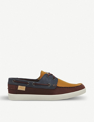 LACOSTE Keellson leather boat shoes
