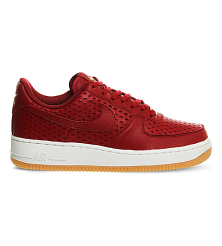 NIKE Air Force 1 '07 leather trainers (Noble red cut