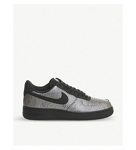 NIKE Air force 1 '07 nyc leather and textile trainers (Silver black nyc