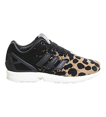 ... ADIDAS ZX Flux leopard-print trainers (Black leopard. PreviousNext