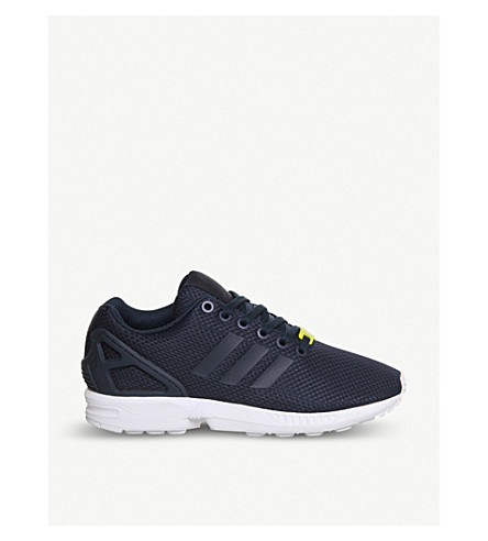 ADIDAS ZX Flux mesh trainers (Navy+white