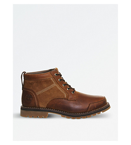 TIMBERLAND Larchmont Chukka suede leather boots (Oakwood+leather