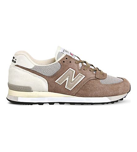 NEW BALANCE 575 logo-detail suede sneakers (Grey beige suede
