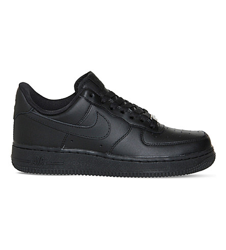 NIKE Air force 1 lo leather trainers (Black black