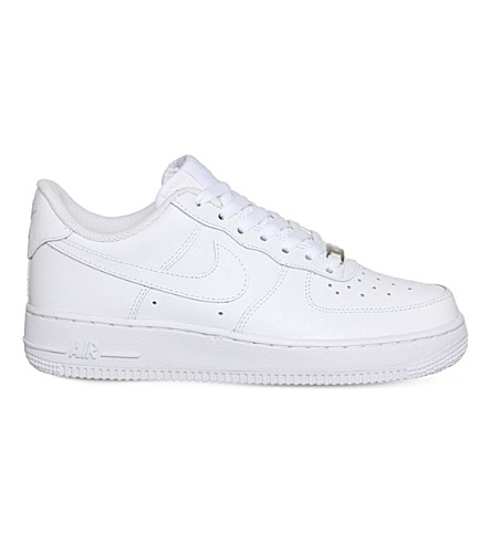 NIKE Air force 1 lo leather trainers (White white