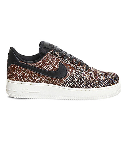 NIKE Air Force 1 Lo pony-hair leather trainers