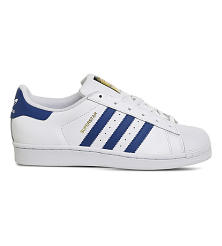 ADIDAS Superstar GS trainers (White+blue