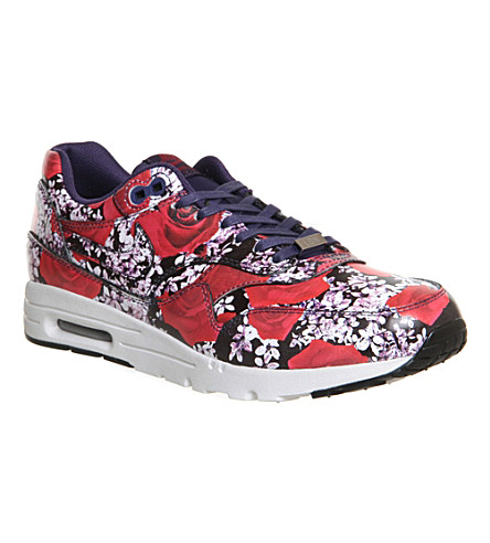 NIKE Air max 1 London city collection trainers (Black red flo london