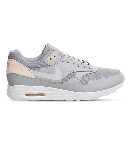 NIKE Air Max 1 Ultra leather and mesh trainers (Wolf+grey+sunset
