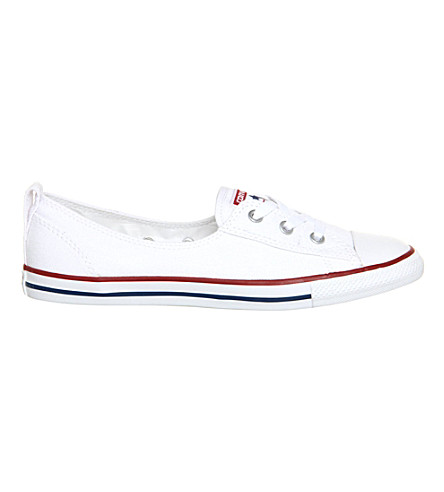 CONVERSE Ctas lace-up ballet flat trainers (Optical+white