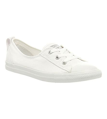 CONVERSE Ctas lace-up ballet flat trainers (White+mono