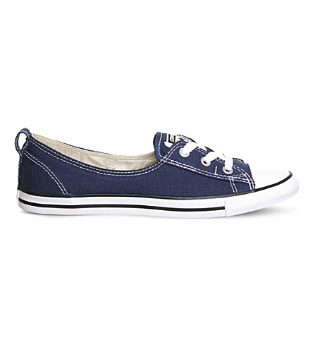 CONVERSE Ctas lace-up ballet flat trainers (Navy