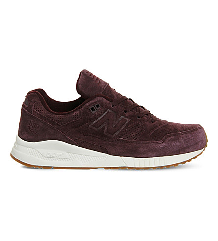 NEW BALANCE 530 suede running trainers (Plum+gum