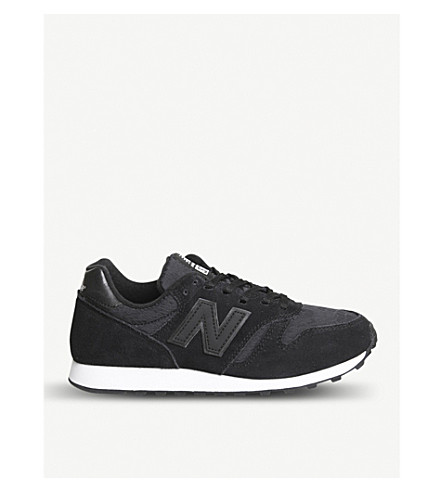 NEW BALANCE Wl373 suede trainers (Black+lace
