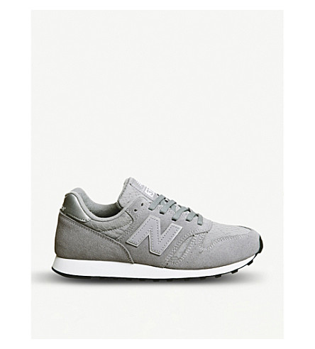 NEW BALANCE Wl373 suede trainers (Grey+lace